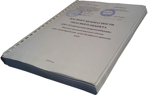 Паспорт безопасности ОПО